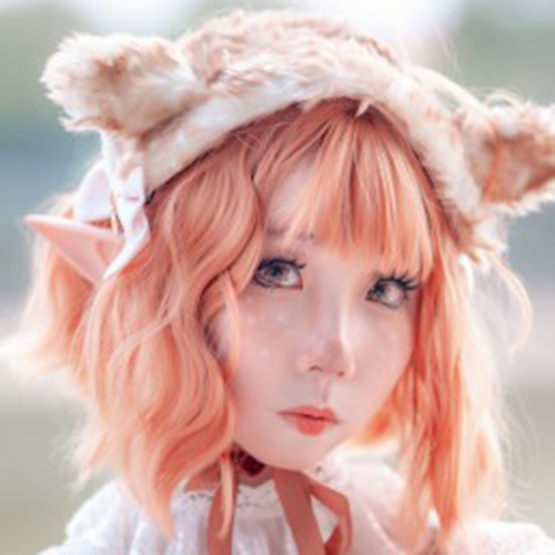 Yellow short roll wig KF90751