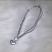 Silver Love Necklace KF90805