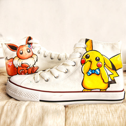 Pikachu Handmade Painting Shoes   KF7014