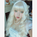 White long curly wig KF81264