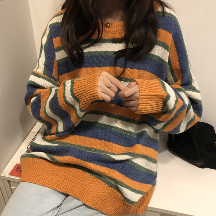 Autumn and winter striped sweater  KF50001