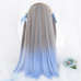 Long straight gradient wig KF81675