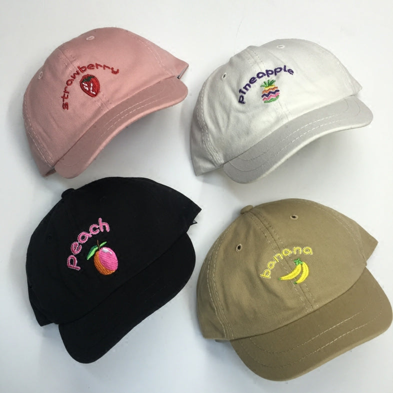 Fruit embroidery hat KF90551