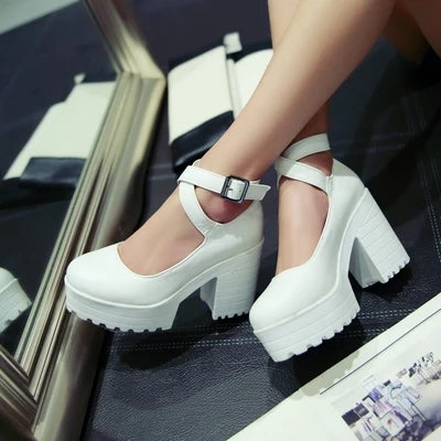 Lolita high heel shoes  KF2247