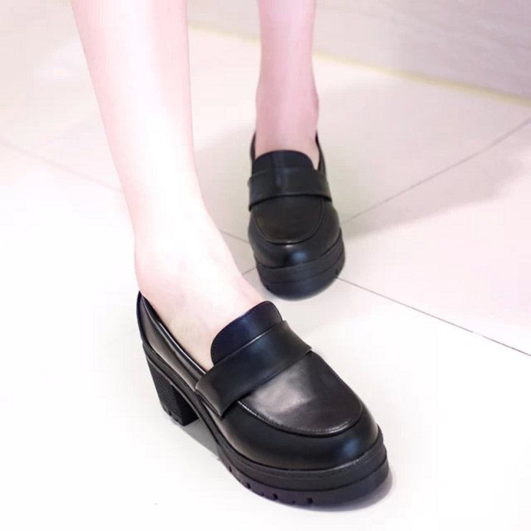 retro high heels  shoes KF2249
