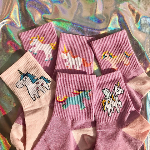 Cute unicorn socks KF90120