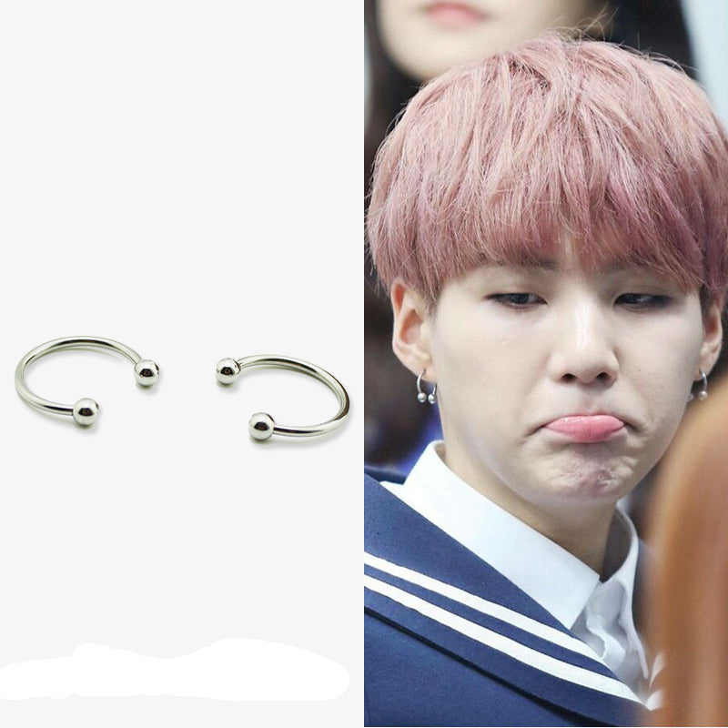 vast selection best finest selection BTS-Suga Earrings KF30330 - unzzy