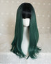 Green long roll wig KF90448