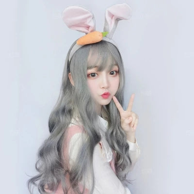 Cute wave long roll wig KF80054