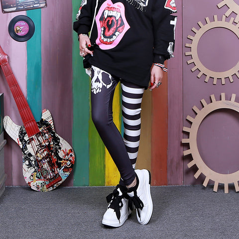 Grunge cartoon Leggings  KF8209