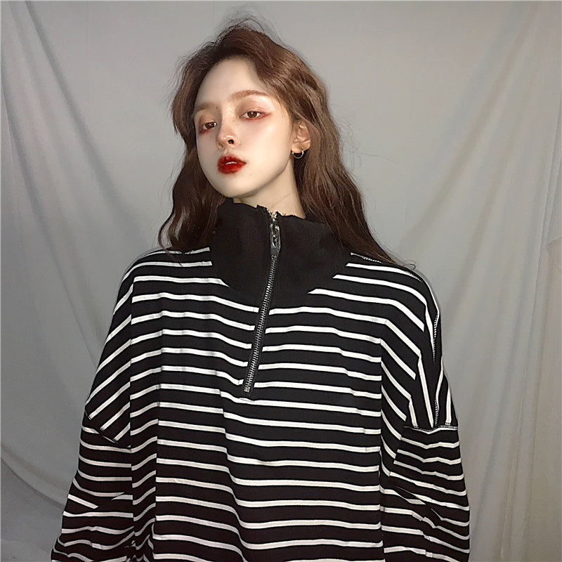 Harajuku striped sweater KF30402