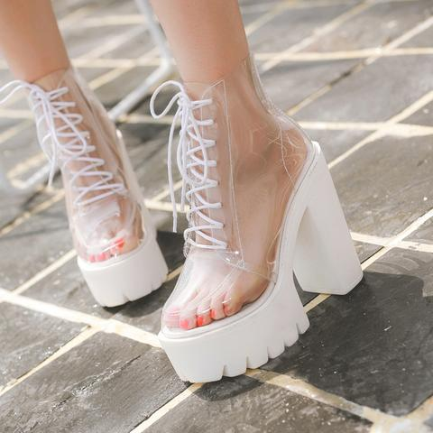 Harajuku Fashion Transparent Shoes  KF20124