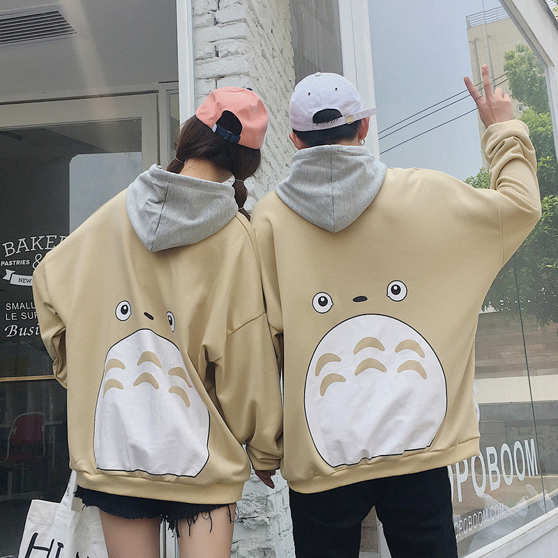 Totoro couple plus velvet sweater KF25063