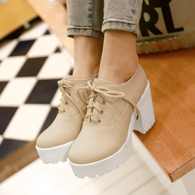 Harajuku high-heeled platform  shoes KF2245