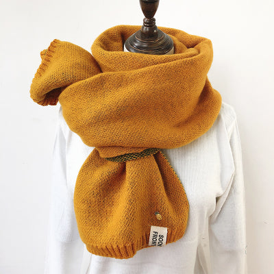 Warm knitted wool scarf KF90054