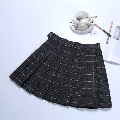 Pleated high waist skirt KF24059