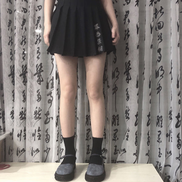 Punk dark skirt KF90181