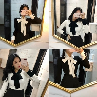 Knitted scarf sweater KF80036
