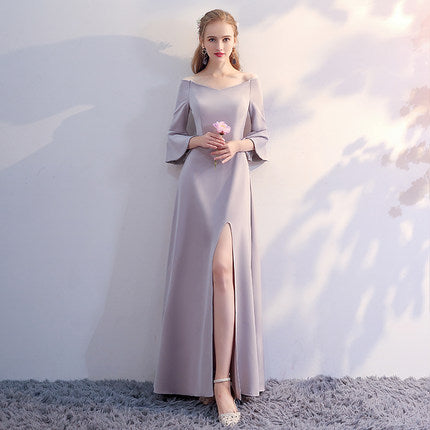 Gray temperament Gown Dress KF80080