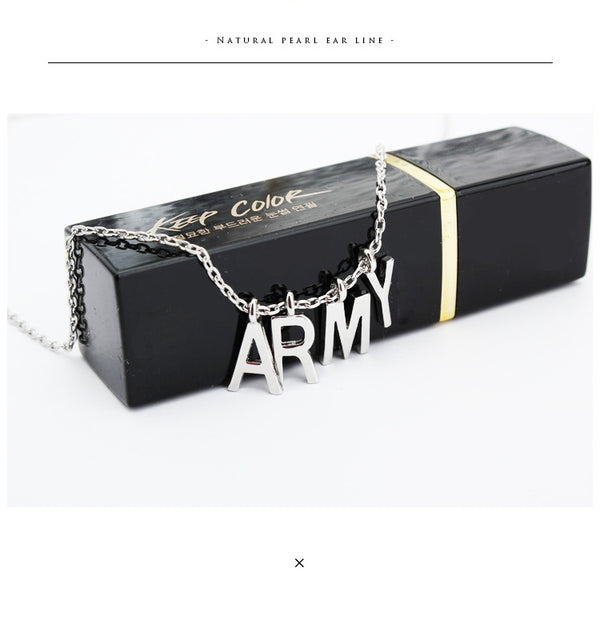 "BTS ""ARMY"" Necklace KF30295"