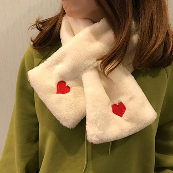 Love Embroidered Scarf KF90123