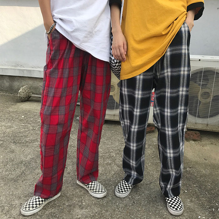 Unisex Plaid Pants KF9128