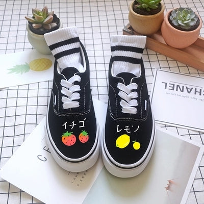 Fruit canvas shoes KF25070