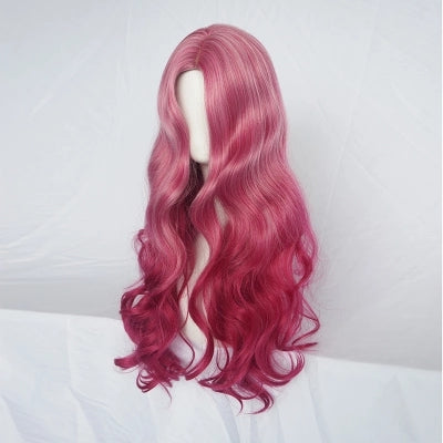 Pink gradient big wave wig  KF24088