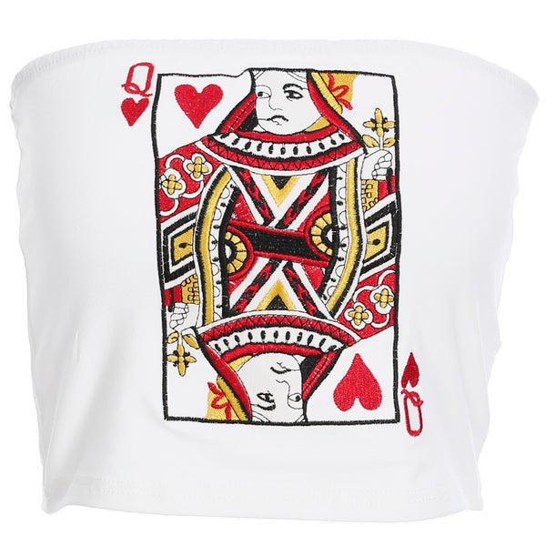 Embroidered playing card vest KF90795