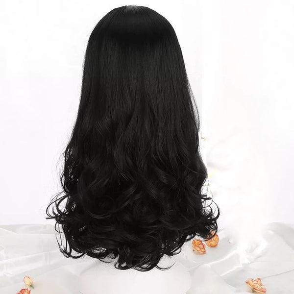 Black long wig KF90273