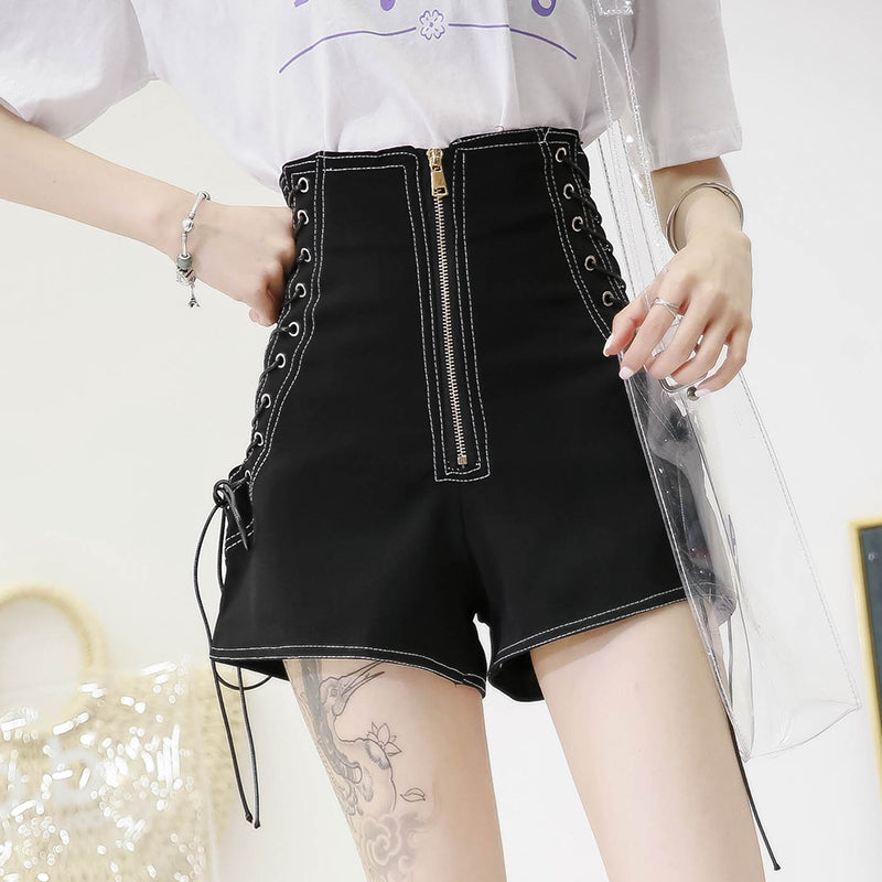 Black high waist shorts  KF2355