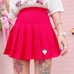 Berry Pleated Skirt  KF40076