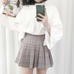 Plaid Pleated Skirt KF40072