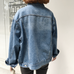 Dark Blue Denim Jacket KF30113