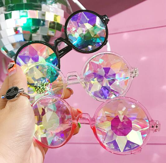 FREE Shipping Vintage Kaleidoscope Illusion Sunglasses  KF2090