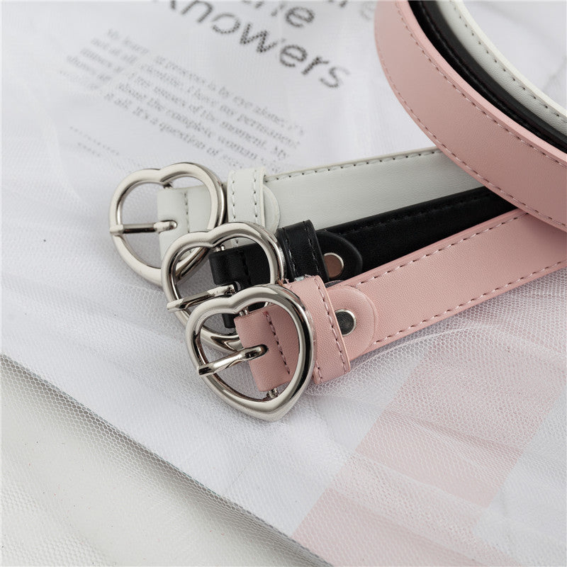 Heart Lady Belt Thin Girl Heart Belt KF2056