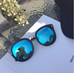 Personality retro simple big box square face round face sunglasses KF2089