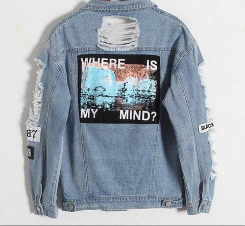 """Where Is My Mind"" Ripped Jacket KF2204"