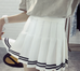Striped Pleated Skirt KF2014