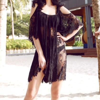 See-Through Lace Cover Up KF30183