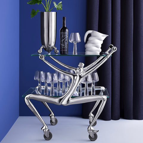 Carrol Boyes - Drinks Cart with Glass - Man