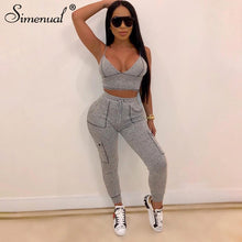 Load image into Gallery viewer, Grey Sporty Sexy Jogger Set