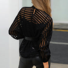 Load image into Gallery viewer, Sheer Long Sleeve Ladies Blouse