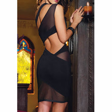 Load image into Gallery viewer, Sheer Lace Cocktail Dress