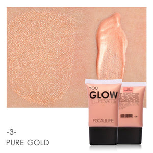 Gold Face Highlighter Liquid Glow Make up