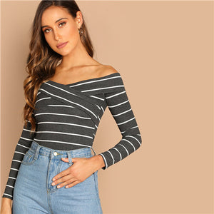 Highstreet Elegant Cross Wrap Top