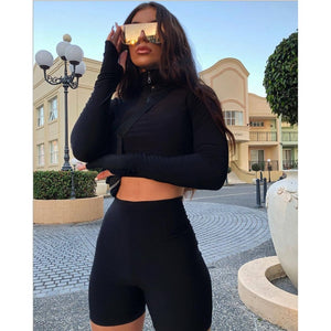 Sports 2Pcs Long sleeve Track Suit