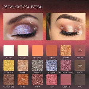 Highly Pigmented Twilight Toned Eye Shadow