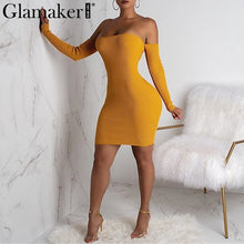 Load image into Gallery viewer, Sexy Off Shoulder Strap-Up Dress