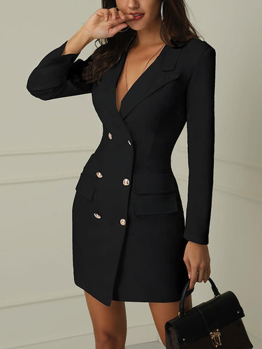 Sexy Button Business Dress